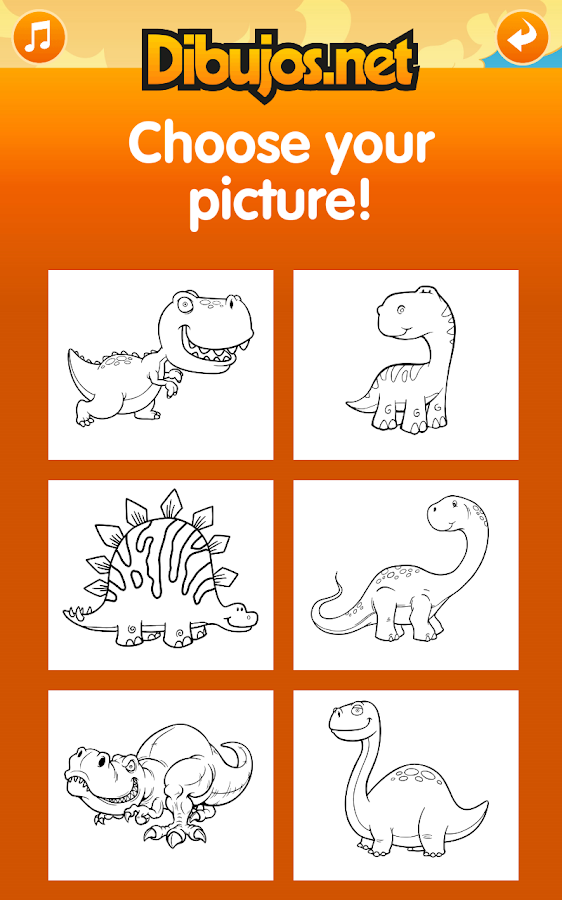 Dinosaur Coloring Pages- screenshot