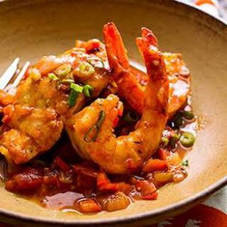 Sautéed Snapper & Shrimp with Creole Sauce.
