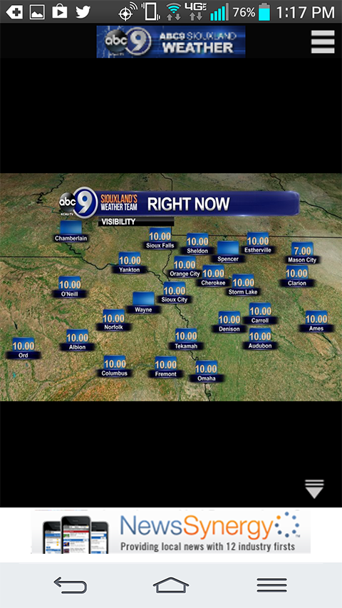 ABC9 Weather KCAU-TV Siouxland- screenshot