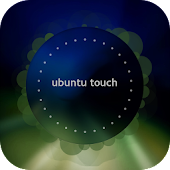 Blue Ubuntu Clock Widget
