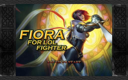 Fiora LOL Fighter Dragon Hell