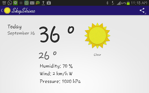 SkyShine-Weather Forecasting screenshot 1