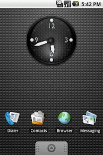 KDE Carbon Clock Widget 2x2 - screenshot thumbnail