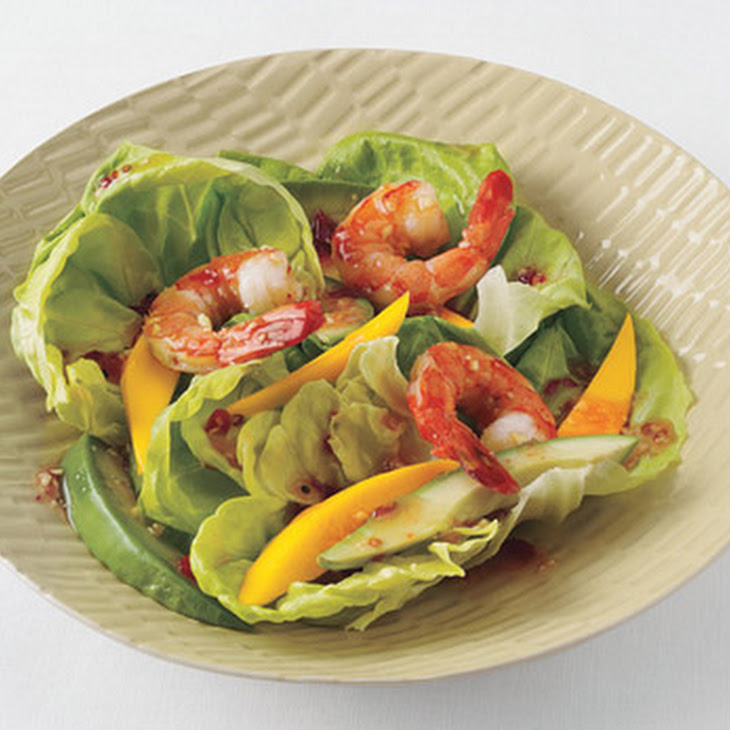 Shrimp, Mango, and Avocado Salad with Sweet Chili-Ginger Vinaigrette Recipe