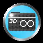 Kamera 3D icon