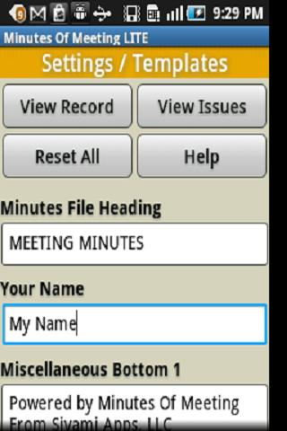 Minutes Of Meeting PRO - screenshot