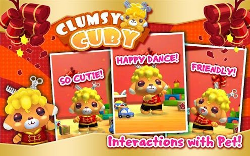 Clumsy Cuby - Interactive Pet - screenshot thumbnail