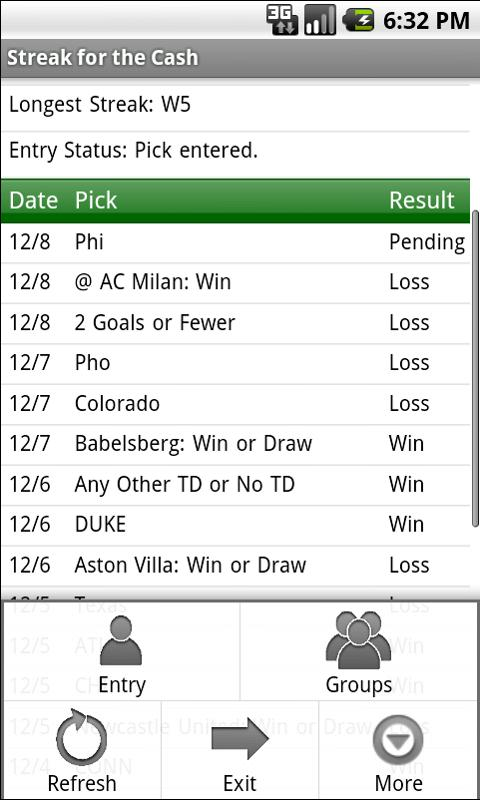 Streak for the Cash - screenshot