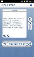 Screenshot of fb shuffle