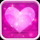 Liebevolle Herzen Hintergrund icon