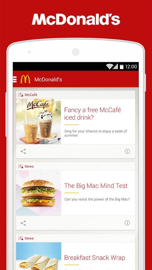 McDonald's UK - screenshot