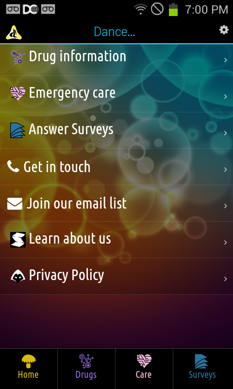 DanceSafe Mobile - screenshot