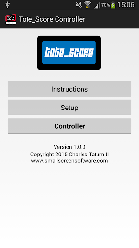 Tote_Score Scorekeeper Control