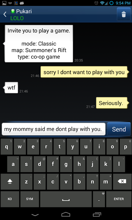 LoL Messenger for Android - screenshot