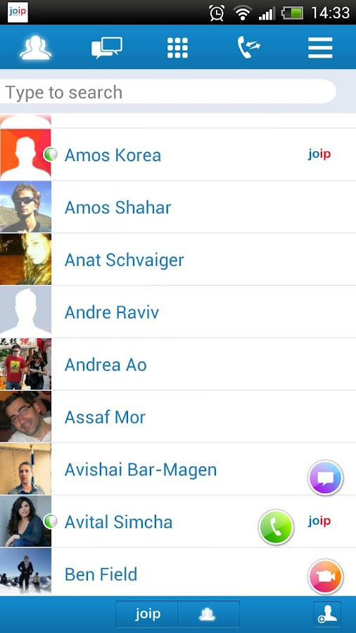 joip One - IM , Voice & Video - screenshot