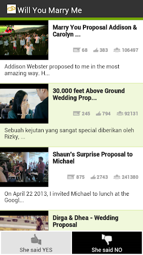 Top marriage proposal videos