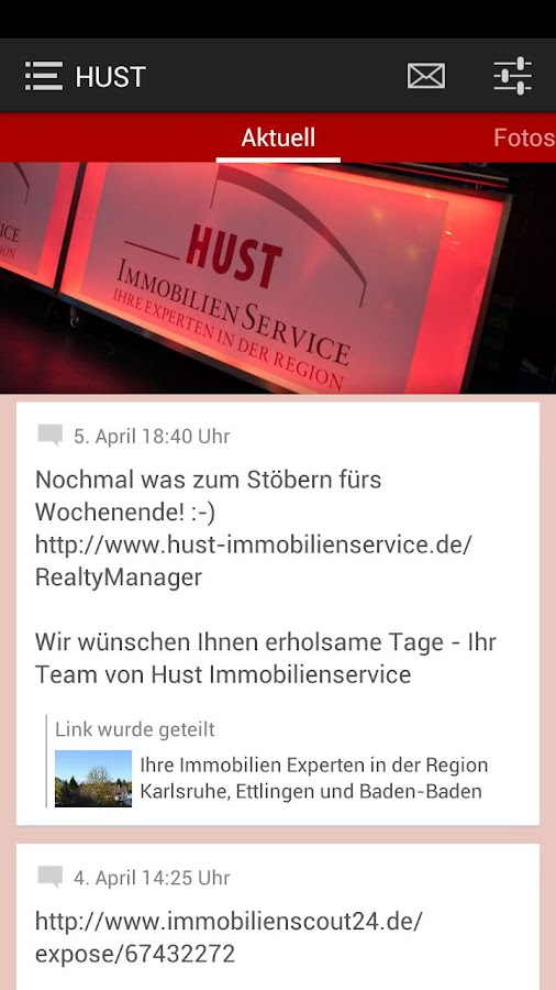 Hust ImmobilienService - screenshot