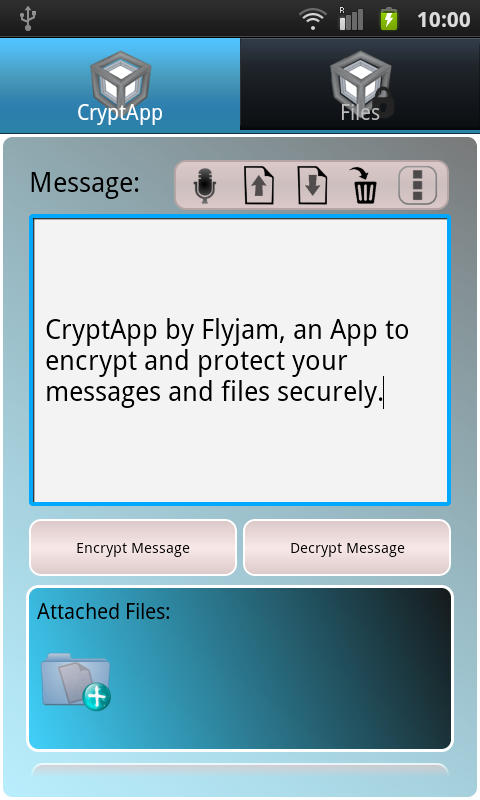 Secret Messages CryptApp- screenshot