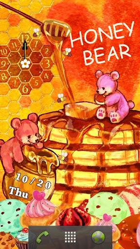 HONEY BEAR 時計付きライブ壁紙
