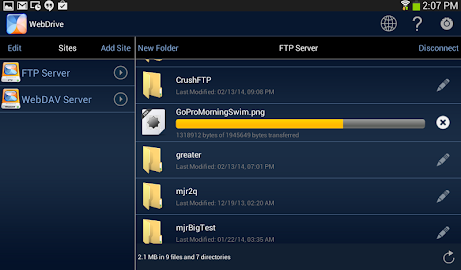 WebDrive, File Transfer Client Screenshot 11