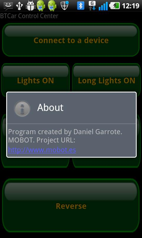 Mobot BTCar - screenshot