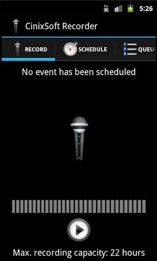 Secure Schedule Voice Recorder
