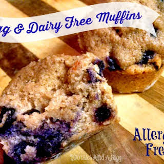 Dairy Free & Egg Free Blueberry Muffins –Allergy Friendly.