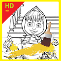 Masha Coloring Book icon