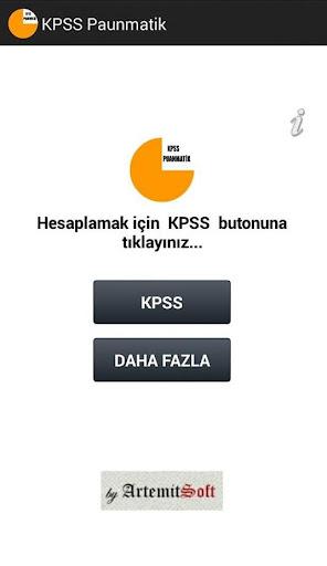 KPSS Puan hesaplama 2014