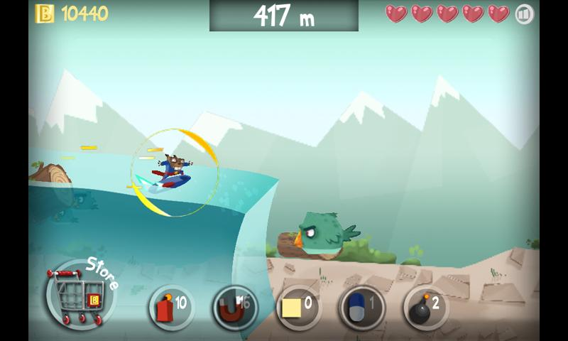 Surfing Beaver - screenshot
