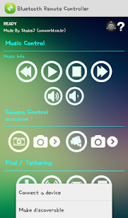 Bluetooth remote control - screenshot thumbnail