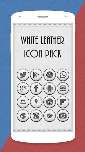 White Leather Icon Pack Theme