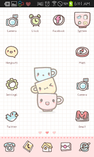 Cups go launcher theme - screenshot thumbnail