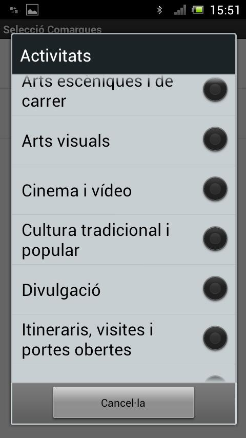 AgendaCAT - screenshot