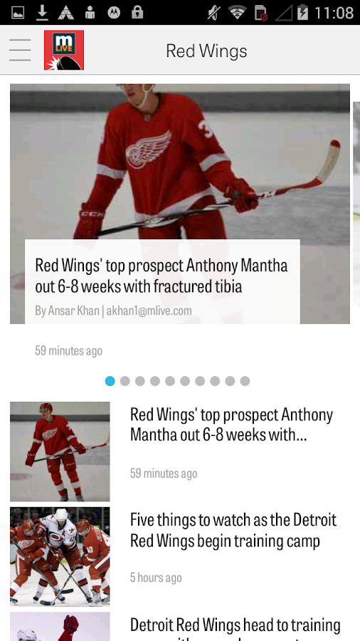 MLive.com: Red Wings News- screenshot