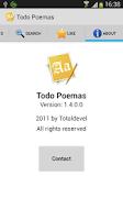 Screenshot of Todo Poemas Free (Spanish)