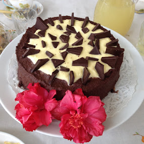 Chocolate Cake with Orange Cream, yum! by Dawn Simpson - Food & Drink Cooking & Baking ( candy, dessert, sweet,  )