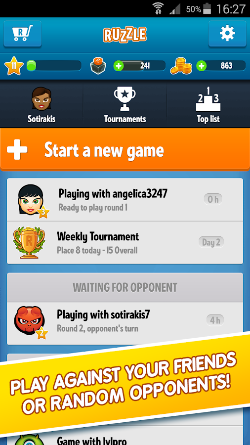 Ruzzle- screenshot