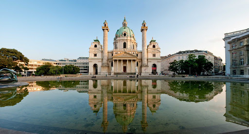 Karlskirche (Church of St. Charles Borromeo) in Vienna.