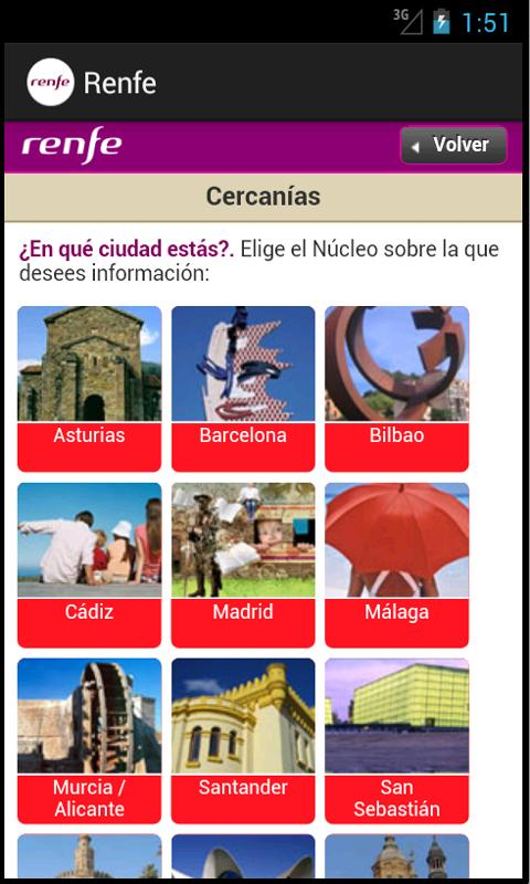 Renfe - screenshot