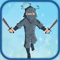 Ninja jump flying head style icon