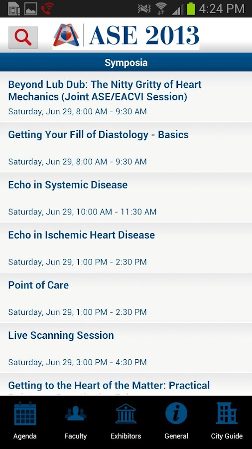 ASE Scientific Sessions- screenshot