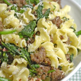 Pasta with Broccoli Rabe and Sausage.