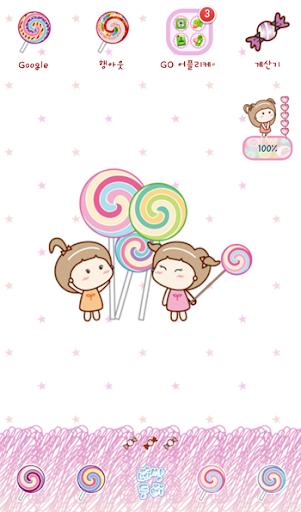 玩個人化App|네쌍둥이(화이트데이) 고런처 테마免費|APP試玩
