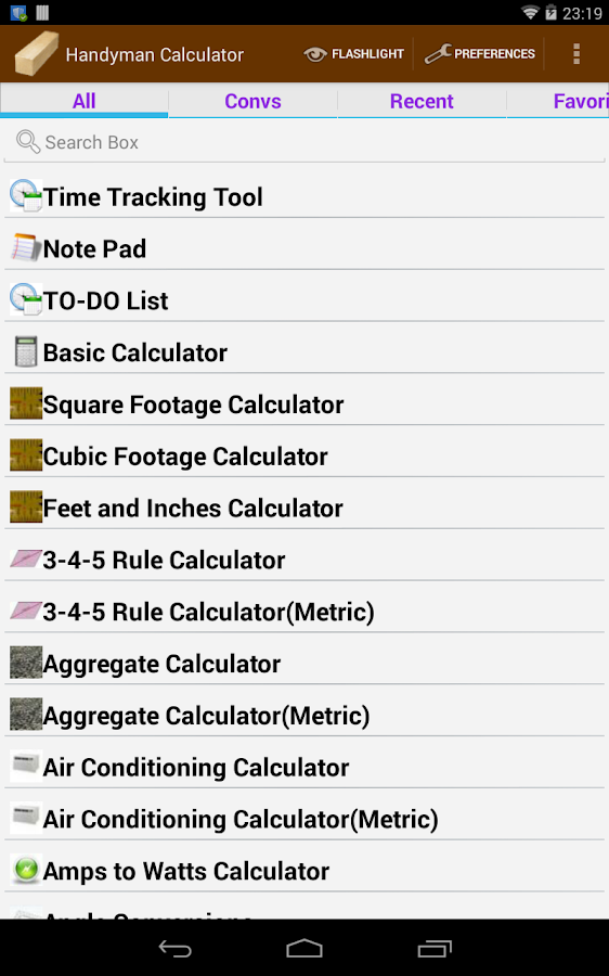 Handyman Calculator Pro (Key)- screenshot