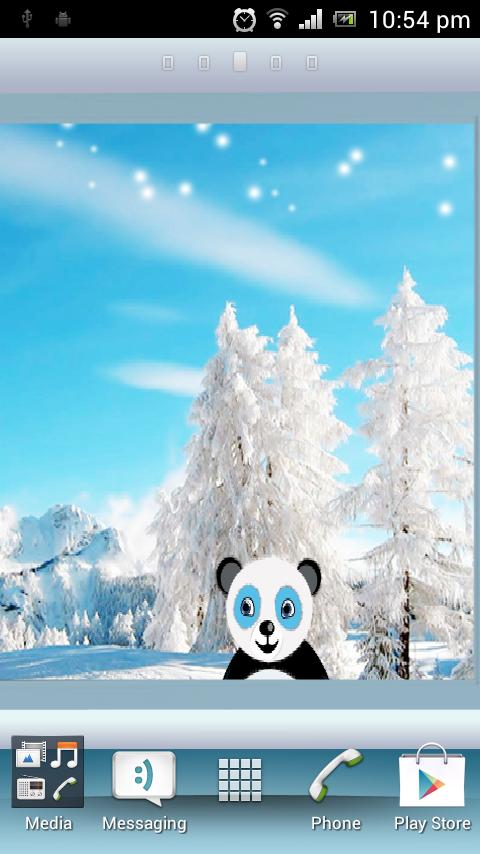 Snowfall Panda HD Live WP - screenshot