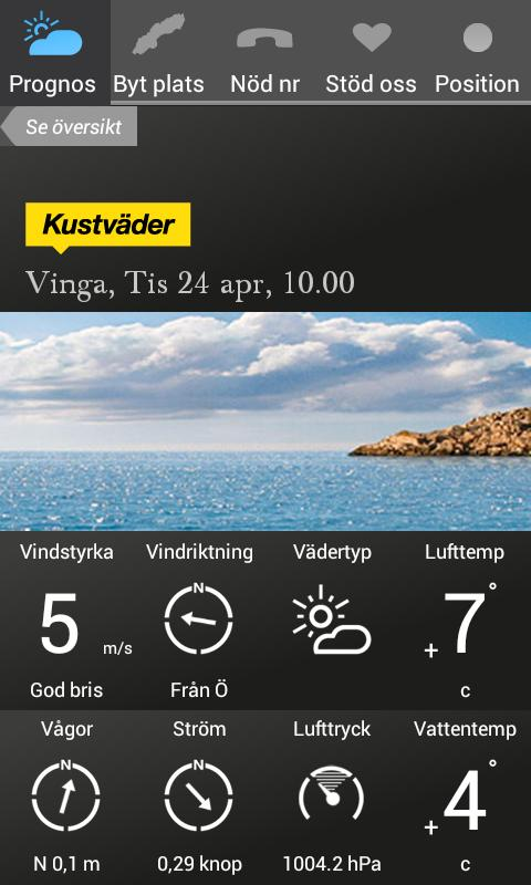 Kustväder - SSRS - screenshot