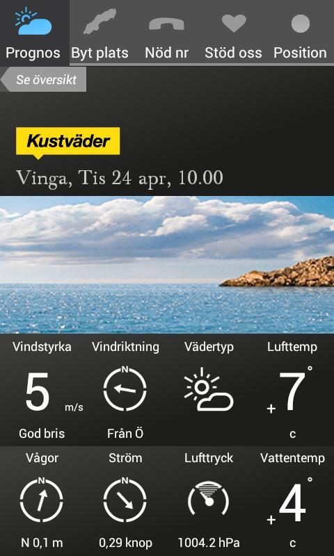 Kustväder - SSRS- screenshot