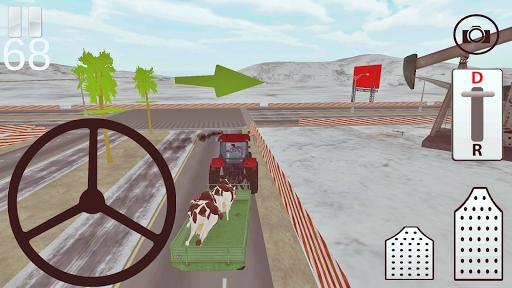 Traktör Sürme Yük Taşıma 3D