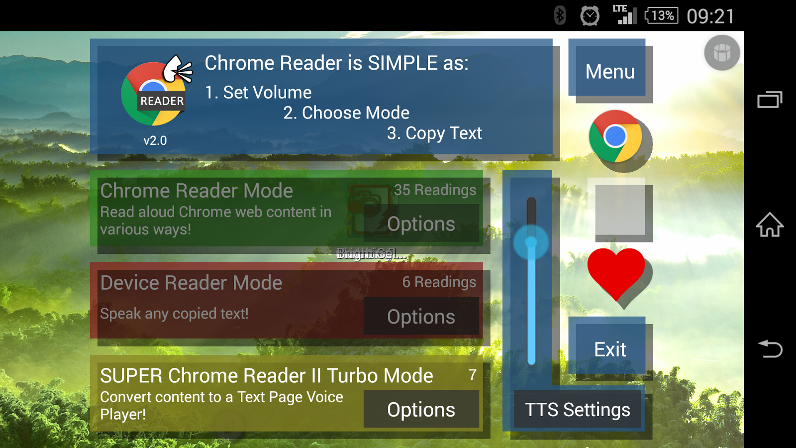 Chrome Reader (Voice) - screenshot